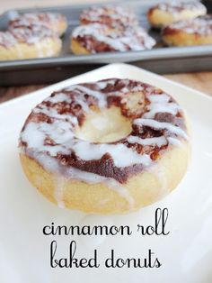 Baked Donut Recipes, Baked Doughnuts, Baking Recipes, Donuts Donuts, Savory Donuts Recipe, Delicious Donuts, Delicious Desserts, Yummy Food, Healthy Donuts