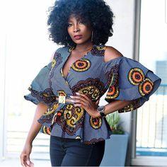 Stunning ankara blouse