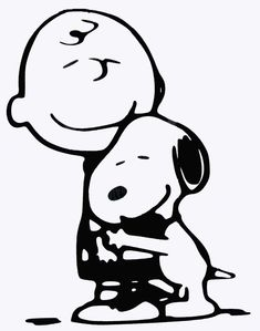 charlie brown and snoopy black and white - Google Search