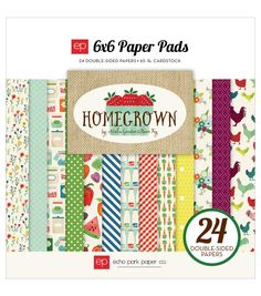 Echo Park Paper Company™ Homegrown 6''x6'' Double-Sided Paper Pad