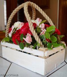 skrzynka z różami