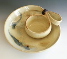 Chip and Dip handmade ceramic dish ceramics and by ocpottery, $65.00