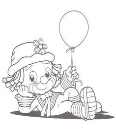 Baby Coloring Pages, Adult Coloring Book Pages, Cartoon Coloring Pages, Christmas Coloring Pages, Coloring Books, Charm Pack Quilt Patterns, Applique Patterns, Clown Cirque, Clown Crafts