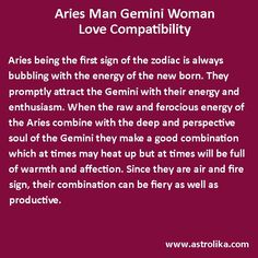 Aries Man and Gemini Woman love compatibility attraction match, romance & horoscope. Astrology analysis for love relationship, friendship, marriage, soulmates and partners. Gemini And Aries Compatibility, Gemini Zodiac, 12 Zodiac, Gemini Facts, Zodiac Signs, Gemini And Aries Relationship, Gemini Love, Horoscope Reading, Astrology Chart