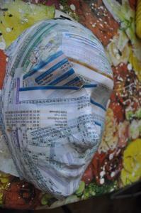 tutoriel masque en papier maché