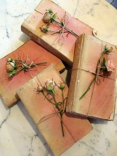 Dusty rose pink 19th Century paperback books - Appley Hoare Antiques