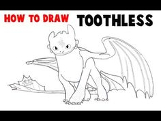 How to draw toothless from how to train your dragon 2easystep by how to draw toothless from how to train your dragon 2 in easy steps tutorial ccuart Image collections