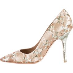Pre-owned Christian Dior Sequin Embellished Pumps (435 CAD) ❤ liked on Polyvore featuring shoes, pumps, silver pointy toe pumps, pointy toe pumps, pointed toe shoes, pre owned shoes and christian dior pumps