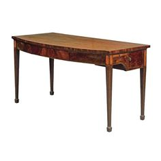 Fine George III Neoclassical Mahogany Serpentine Serving or Console Table 6