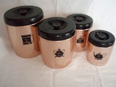 Copper West Bend Aluminum 1960's Canisters