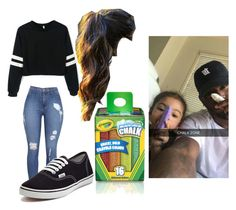 """""""Chalk Drawing with Bryson Tiller"""" by crystalhemmings11 ❤ liked on Polyvore featuring Vans"""