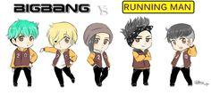 BIGBANG VS RUNNING MAN by IDASWANZ.deviantart.com on @deviantART