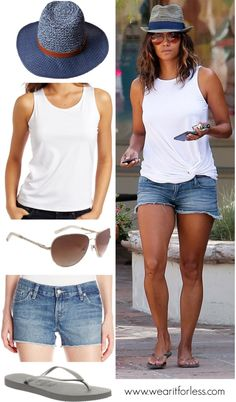 Halle Berry cut a sultry figure in a pair of denim shorts while out in Los Angeles - get her look for less!