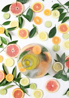 DIY Citrus Ice Buckets