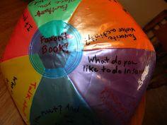 Making It My Own: Toss 'n Talk Icebreaker Game