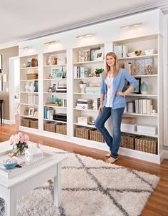 Make your own personal library wall with these DIY tips and ideas. Get inspired to build a built-in library to any room in your home to create character and charm in your home.