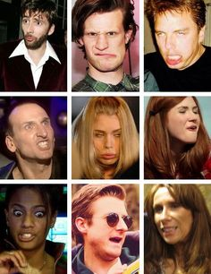 The real faces of Doctor Who..OMG hahaha :)
