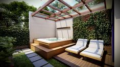 Hot Tub Backyard, Rooftop Terrace Design, Home Spa Room, Outdoor Living Design, Outdoor Spa, Luxury Pools, Jacuzzi, Spa Rooms, Balcony Design
