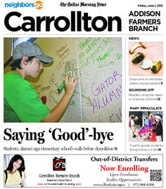 06/01: Why did Good Elementary educators in Carrollton allow students to write on the walls? Caitlin Harrison has the story.   http://neighborsgo.com/stories/83573
