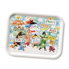 #Moomins - The charming Unicef-peace tray from Opto design is made in connection with Tove Janssons 100th anniversary. Tove Jansson is one of our most beloved and well-known authors and illustrators. In 2014, she would have turned 100 years. When you buy this lovely tray with characters from the Moomin series, Opto design will donate € 1,5 to UNICEF´s education projects all around the world.