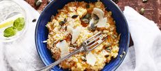 Kurpitsarisotto Raw Food Recipes, Vegetarian Recipes, Cooking Recipes, Healthy Recipes, Healthy Food, Pumpkin Risotto, Cauliflower, Macaroni And Cheese, Vegetables