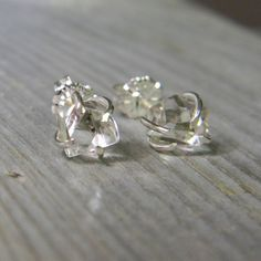 Rustic Elegance Prong Set Herkimer Diamond Solitaire by DearAnge, $54.00