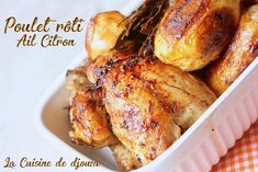 Coquelet rôti ail et citron Salty Foods, Whey Protein, Chicken Wings, Pork, Turkey, Food And Drink, Meat, Cooking, Recipes