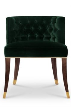 With origins in France, the House of Bourbon was a dynasty known for its class and splendour. BOURBON Dining Chair embodies this grandeur through its button-tufted inner back, rich cotton velvet and ash with walnut stain legs. This fabric chair makes up any refined dining room design.