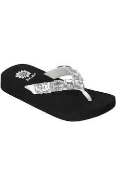418bc21f586 Bling Wedge Sandals Flip Flops Thongs Crystal Rhinestone Look Pink ...