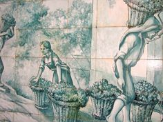Weinernte auf azulejos (1) ' Cante – Gesangskultur aus dem Alentejo - Portuguese tiles