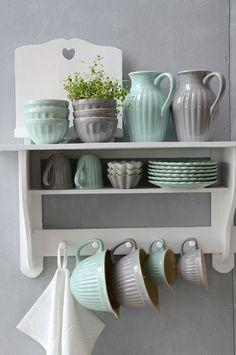 <3 Lovely Mynte Geschirr Ib Laursen  http://www.butik.ch/produkt-kategorie/hersteller/ib-laursen/