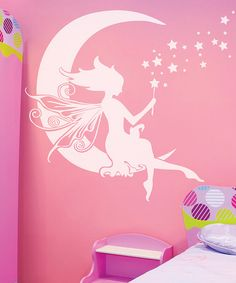 Take a look at this White Moon Fairy Wall Decal by Sissy Little on #zulily today!