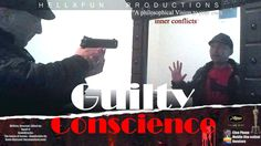 """short film I made 2 years ago, """"Guilty conscience"""" it's of a horror comedy type. the script, editing, image, sound, all done by me, but I have used royalty free music as soundtrack"""