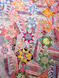 Vintage Crazy Quilt Top Star Pattern by JeepersKeepers on Etsy