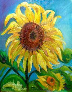 Sunflower – Karen Winters Daily Painting
