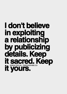 Thanks. I've learned that the hard way, I mean we a know you're in a relationship.. People don't need to be reminded. And let your man show you off Not you show him off.  He is the one pursing you!