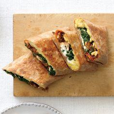 Crispy Mediterranean Breakfast Wraps - Rachael Ray Every Day