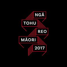 Logo for the 2017 Ngā Tohu Reo Māori Awards, design by Fay & Walter. Graphic Design Studios, Design Crafts, Typography, Logos, Contemporary, Modern, Awards, Study, Maori