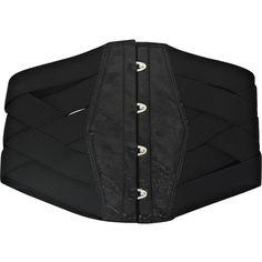 Kiki de Montparnasse Wide bandage waist belt (9 885 UAH) ❤ liked on Polyvore featuring accessories, belts, cintos, cinture, black, women, wide patent leather belt, woven belt, wide braided belt and wide patent belt
