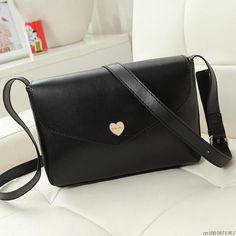Hot Sale Heart Women Leather Handbags CrossBody