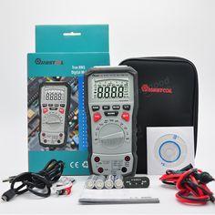 Mustool® mt826 efficace vrai professionnel numérique multimètre ac / dc courant / ℉ transistor testeur de diode ac / dc résistance de tension capacitif à fréquence continuité ℃ avec la ligne d'essai de silicone et câble usb Vente - Banggood.com