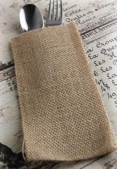 Burlap Silverware Envelopes (12 pack)