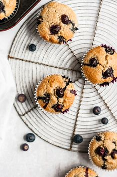 Healthy blueberry muffins that you can feel good about eating! Made with a mix of almond flour and oat flour. These blueberry oatmeal muffins are gluten free dairy free and packed with nutritious ingredients. Oatmeal Blueberry Muffins Healthy, Blueberry Juice, Blueberry Recipes, Healthy Muffins, Almond Recipes, Blue Berry Muffins, Vegan Muffins, Muffins Sans Gluten, Cake Sans Gluten