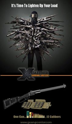 Even when space is limited, you'll still have the POWER! The X Caliber Survival Shotgun is coming to a gun store near you!