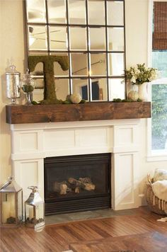 Spring mantel... mossy things