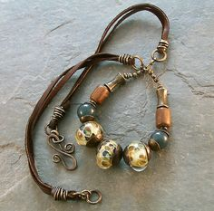 leather and granite necklace 010, Keirsten Giles   Flickr - Photo Sharing!