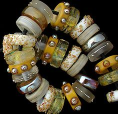 DSG Beads Handmade Organic Lampwork Glass Cream Brulee | eBay |Pinned from PinTo for iPad|