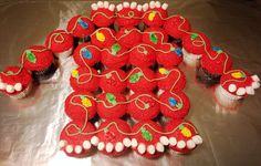 Ugly Christmas Sweater Cupcake Cake. AWESOME. Will have to make these to go with my cookies