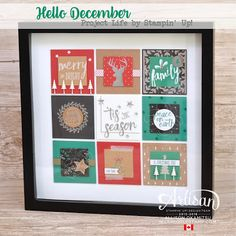 I love the Project Life Accessory Packs by Stampin' Up!, and the Hello December release is no exception. These accessory packs are PACKED with embellishing goodies, so it was perfect to make this piece of home decor.  - Allison Okamitsu