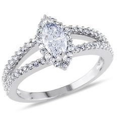 I've tagged a product on Zales: 7/8 CT. T.W. Marquise Diamond Split Shank Ring in 14K White Gold